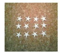 "( ONE DOZEN - 12 ) Stars - Star - White - Embroidered Iron On Patches - 5/8"""