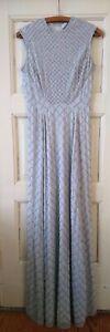 Needle & Thread Circle Mesh Embellished Maxi Dress, UK 8 EU 36, light blue