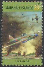 WWII Ilyushin Il-2 Russian Ground-Attack Aircraft Stamp (Marshall Islands)