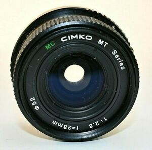 Cimko MT Series 28mm f/2.8 Lens with Canon FD mount