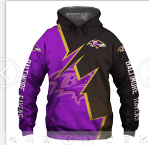 Baltimore Ravens Men's Pullover Hoodie Hooded Sweatshirt Casual Jacket Fans Gift