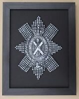 Large Scale Framed BLACK WATCH Badge Plaque