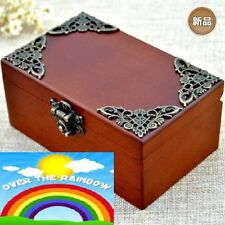CLASSIC Rectangle jewelry Music Box : SOMEWHERE OVER THE RAINBOW
