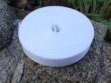 25mm Blanco, 1 pulgadas, las correas nylon cinta X 10 metros