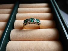 18ct Gold, Emerald and Diamond Dress Ring (size M)