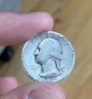 1932 P Washington Quarter - 90% silver 1st year issue. Nice coin!