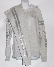 Victoria's Secret Pink Limited Edition Bling Sequin Hoodie & Gym Pant Set XS NWT