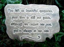 Concrete memorial mold You left us beautiful memories plaster cement mould
