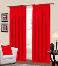 RING TOP THERMAL BLACKOUT PAIR EYELET READY MADE CURTAINS BLACK CREAM BLUE PINK