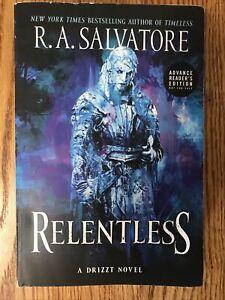 RA Salvatore Relentless uncorrected proof advance arc ucp