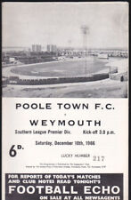 1966/67 POOLE TOWN V WEYMOUTH 10-12-1966 Southern League Premier Division