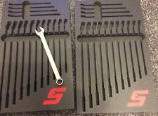 SNAP ON  Black 2 Foam Drawer Inserts SPANNER  Wrench Tool Box Storage Liner NEW