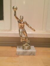 Boys Mens Basketball Sports Trophy Statue Slam Dunk - Marble Base No Nameplate