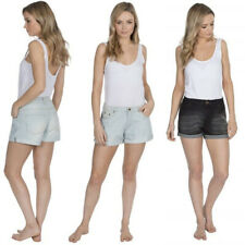 Señoras lavado Stretch Jeans Denim Pantalones Cortos De Playa De Verano Delgado Caliente Pantalones