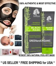Purifying Black BAMBOO CHARCOAL PEEL-OFF MASK Facial Cleansing Blackhead Remover