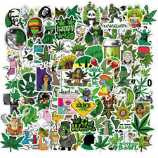 100pcs Weed Leaves Stickers Smoking Graffiti for Skateboard Luggage Laptop Wall