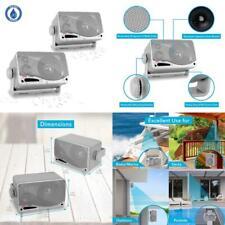 3 Way Waterproof Marine Box Speakers 3.5In 200 Watt Dual Indoor Outdoor Speaker