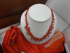 Collana Vero CORALLO ROSSO a rametti Torre del Greco-Real Coral necklace