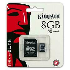 8GB KINGSTON Micro SD SDHC SD Memory Card Class 10 45MB/s 8GB With Adapter
