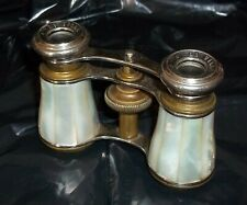 Vintage Brass & Mother of Pearl Opera Glasses