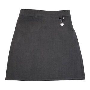 Zeco School Uniform Girls Stretch Fabric Heart Detail Skirt 3-16 Years(GS3006)