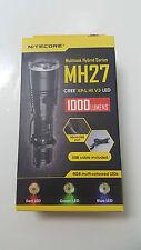 NiteCore MH27 Cree XP-L HI V3 LED RGB multi-coloured Led Flashlight 1000Lumen