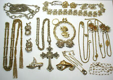 GROUP OF VINTAGE NECKLACES & EARRINGS, SOME SIGNED