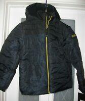 BNWT - BOYS SCHOOL COAT - BLACK HEATHER CAMO - AGE 10 - 12 YRS ULTRA WARM PADDED