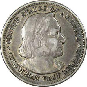 1893 World's Columbian Exposition Commemorative Half Dollar 90% Silver 50c Coin