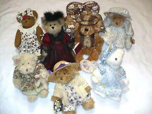 7 Avon Teddy Bear Bears Hat Box Teddies Lot