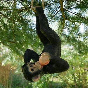 Climbing Monkey Tree Hanging Garden Tree Ornament Statue Sculpture Decoration