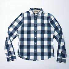 Hollister Men's Blue Check Long Sleeve Shirt Size Large Mint Condition