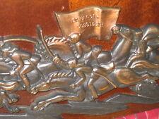 Soviet Metal Wall Plate PLAQUE Revolution BUGLER Horseman CAVALRY BOY *Attack*