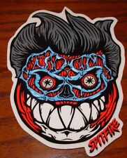"SPITFIRE FORMALDEHYDE Face Logo Skate Sticker 4 X 5.5"" skateboards helmets decal"