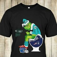Grinch NFL Official Team Football Miami Dolphins Shirt Women Men Gift S-3XL