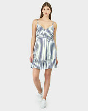 HUFFER | Womens Resort wrap striped Dress  [ Size  AU 8 or US 4 ]