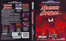 Maximum Carnage Sega Mega Drive PAL Replacement Box Art Case Insert Cover Scan