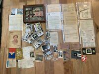 US Army WWII Ephemera lot CBI FIJI Pacific Theater 100+ Photo Document HOSPITAL