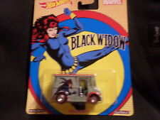 2017 HOT WHEELS MARVEL BLACK WIDOW BREAD BOX LIGHT BLUE HW HOTWHEELS  VHTF RARE