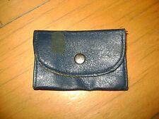 Vintage 6 Key Holder Wallet Case Snap Closure Navy Blue
