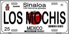 LOS MOCHIS SINALOA MEXICO NOVELTY METAL LICENSE PLATE TAG