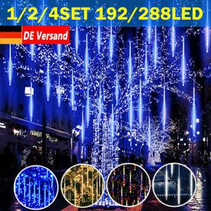 LED Lichterkette Schneefall Meteor Schauer Regentropfen Eiszapfen Weihnachten DE