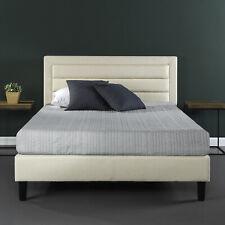 New King Size Bed Frame Upholstered Tufted Headboard Platform Bedroom Furniture