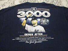 NEW YORK YANKEES DEREK JETER #2 3000 HITS CAREER ACHIEVEMENTS T-SHIRT- XL NY