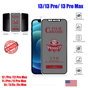 For iPhone 13/12/11/X/Max Privacy Anti-Spy Ceramics Screen Protector
