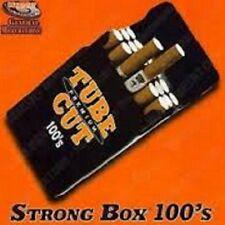 3, 100 mm Black Strong-Box Flip Cigarette Case Long 100s Hard Crushproof Box