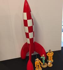 FUSEE TINTIN GRAND MODELE 60cm avec Tintin, Haddock, Tournesol, Milou moulinsart