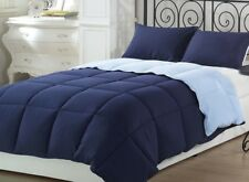 Chezmoi Collection 2pc Reversible Down Alternative Comforter Set Twin, Blue