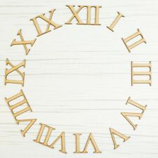 Wooden Clock Numbers - Roman Numerals - Laser Cut Wood Numbers Craft Pieces DIY