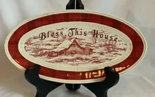 Fitz and Floyd Town and Country Bless This House Plate